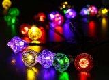 Diamante de la luz de la cadena de la energía solar 20-LED por el Nuevo-Año Lh-Ss22 de la boda de la Navidad