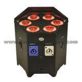 Luz conducida sin hilos 6X10W RGBWA 5 in-1 de la batería