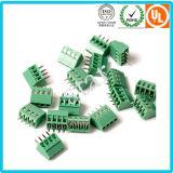 O costume passo de 5.0 milímetros parafusou o bloco terminal verde do PWB de 3 Pin