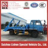 Dongfeng 145 de Vuilnisauto van het Wapen van de Schommeling van het Hydraulische Systeem van het Voertuig van het Vervoer van het Huisvuil