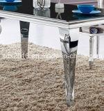 4 piedini marmorizzano la Tabella di vetro della Tabella per mobilia domestica