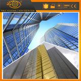 2 capas de oro reflectante ventana del edificio de control solar Tinte solar de película