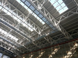 Lichte het Pakhuis en de Fabriek van de Workshop van de Structuur van het Staal en van de Structuur van de Bundel van de Buis