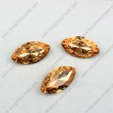 Jewelry Acessory를 위한 높은 Quality Light Peach Crystal Stone Navette Glass Stone