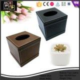 China de lujo del fabricante Customed alta calidad de cuero del tejido facial caja de papel (3639)