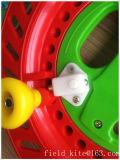 2016赤いABS凧のはえの巻き枠の車輪のツール
