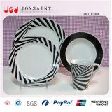 Insieme di pranzo di ceramica di figura quadrata