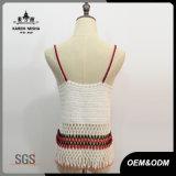 Dessus sexy de crochet de glissade de V-Collet de Boho de femmes