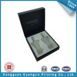 Подгонянная черная бумажная упаковывая коробка (GJ-box146)