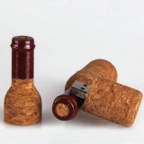 USB 3.0 / 2.0 Memoria Flash disco de madera botella de vino rojo USB