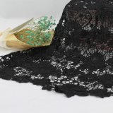 섹시한 까만 폴리에스테 의복 의복을%s 화학 레이스 직물 트리밍