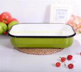 Плита хлеба тарелки салата плиты масла эмали Kitchenware прямоугольная покрасила/после того как она распылена