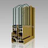 Glace de glissement en aluminium Windows et portes