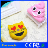 Nouveaux arrivages Emoji Power Bank Cartoon PVC Mobile Phone Charger