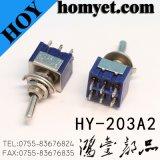 Qualität 3pin auf-weg-auf Minikippschalter des kippschalter PC Terminal-6A 125VAC