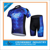 Kundenspezifisches Men Cycling Jerseys mit Padded Cycyling Gear Shorts
