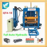 Blocchetto automatico concreto della pressa idraulica che fa macchina