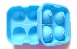 新しい到着4の穴の球形のシリコーンの角氷の皿型