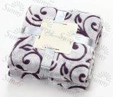 Le polyester 100% 3D neuf doux superbe a gravé la couverture d'ouatine de flanelle/couverture coupée d'ouatine
