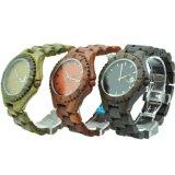Reloj barato de encargo del OEM y madera roja de la sandalia del ébano