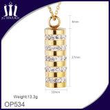 Colgante cilíndrico del cristal de las mujeres del oro de la alta calidad