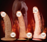 Injo silicona consolador G-Spot Massager del juguete para las mujeres Ij-S10039