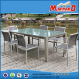 Jardín Furniture Aluminium Table 7 PCS Dining Table y Chair Set