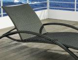 Ротанга PE- Foshanoutdoor Lounger фаэтона Lounger Sun мебели пляжа синтетического напольный складывая (YTF465-1)