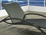Foshanoutdoor 합성 PE- 등나무 옥외 접히는 바닷가 가구 일요일 Lounger 2륜 경마차 Lounger (YTF465-1)