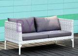 屋外の居間の庭のバルコニーの小型のソファーによって433