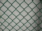 PVCによって塗られる熱い浸された電流を通された金網のチェーン・リンクの塀