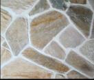 بيجيّ/صدئة/أسود/أصفر حجر لوحيّ أردواز مع شبكة