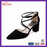 Black Color Women Straps Shoes