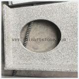 Tapa blanca de la vanidad del granito del sésamo para el cuarto de baño