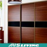 Kundenspezifischer moderner hölzerner Tür-Entwurfs-Schlafzimmer-Garderoben-Wandschrank mit Schiebetüren (AIS-W186)