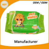Limpieza mojada del tejido del animal doméstico caliente de la venta 30PCS de pies a cabeza