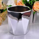 Vase à bougie d'hexagone de forme d'élément pour la décoration à la maison