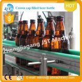 Linha de produção de enchimento da embalagem da cerveja automática cheia