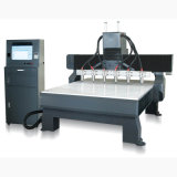 Máquina de cinzeladura de madeira da gravura lisa do router do CNC das Multi-Cabeças