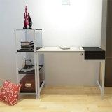 Bureau simple en bois en métal avec l'étagère (WS16-0021, bureau d'ordinateur de bureau à domicile)