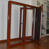 ألومنيوم خشبيّة قطاع جانبيّ شباك نافذة مع [ستينلسّ ستيل] شاشة [ك03024]