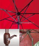 parapluie extérieur du marché de patio de 9FT pour la manivelle de plage de yard