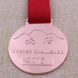 Het aangepaste Metaal stelt het Cirkelen van het Medaillon Medaille voor Triathlon in werking