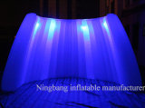 LED 다채로운 빛 훈장을%s 팽창식 결혼식 벽을%s 가진 팽창식 소형 공기 벽