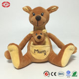 Austrália Brown Kangaroo Plush Soft Stuffed Animal Sitting Toy