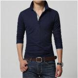 3/4 chemise de polo de coton d'hommes de chemise avec l'extension