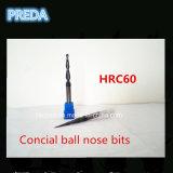 Dígitos binarios de la nariz de la bola del carburo de HRC60 Concial para la madera