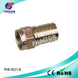 Rg59 RG6 Crimp F Connector per CATV Cable (pH3-1056)