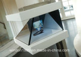 3側面3D Holographicの表示Box、Watch AdvertizingのためのHologram Pyramid Showcase