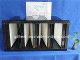 99.99% Фильтр V-Крена HEPA стеклянного волокна эффективности